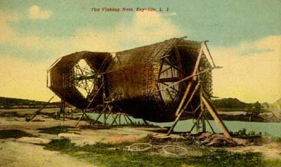 Photo: Sayville fishing nets, 1933