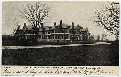 Photo: William K. Vanderbilt estate, Oakdale